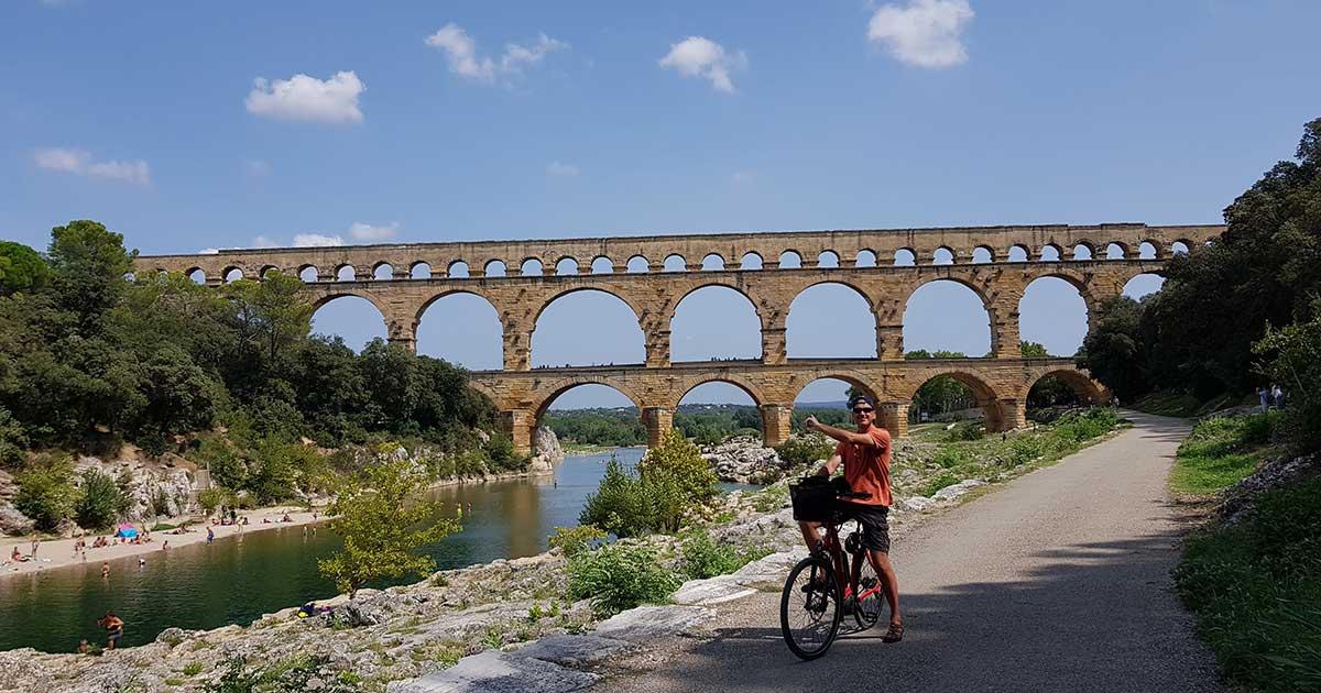 Balade à vélo au Pont du Gard et alentour